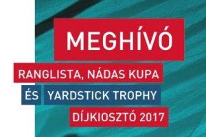 Ranglista, Nádas Kupa és Yardstick Trophy Díjkiosztó 2017